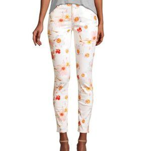 NWOT 7 For All Mankind Floral White Pants Size 23